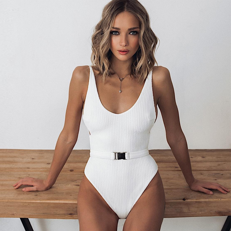 Plus Size Swimsuit2020Floral Ruffled Hem Swimwear Sexy Bandeau High Waist Hollow Out Girl Bodysuit Brazilian For Woman Beachwear