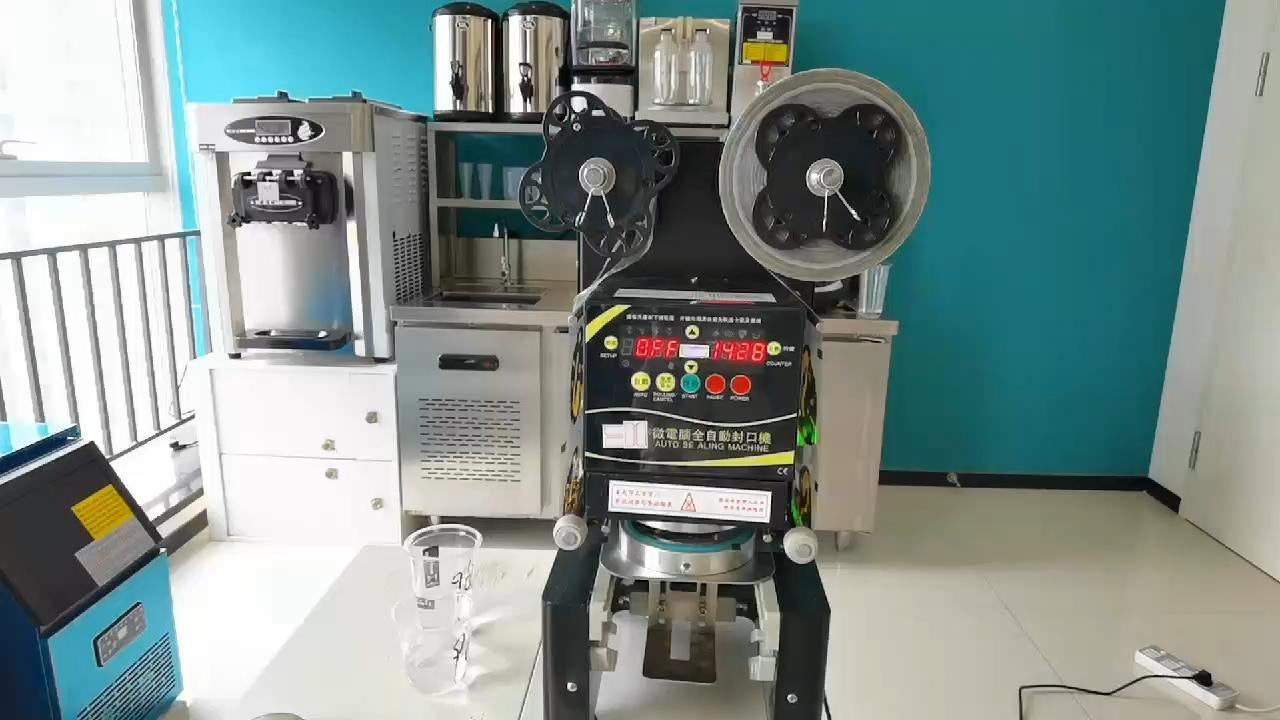 Hohe qualität Voll Automatische kunststoff tasse dicht maschine Mit blase tee ausrüstungen