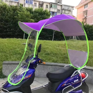 Electric bike umbrella outdoor windproof sunshade motorcycle umbrella cheap custom electric scooter umbrella for rain