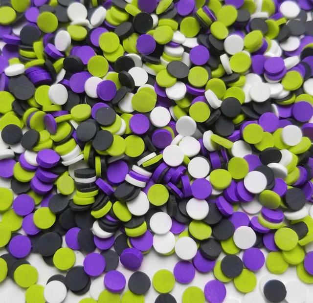 Chocolate chip clay sprinkles candy dot embellishment *choose amount*