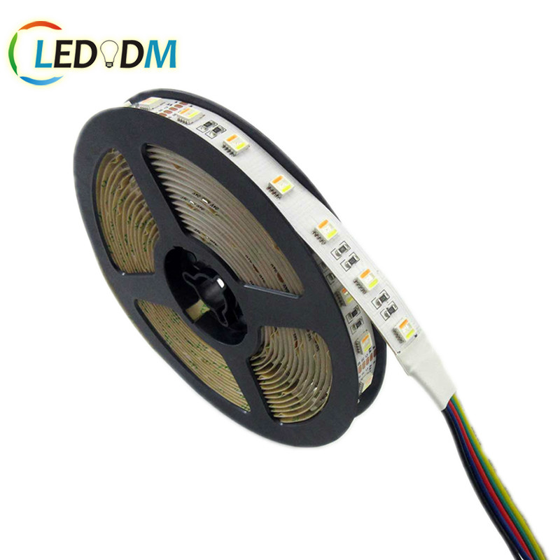New arrivals DC12V/ 24V 5050 RGBWW led strip light 5 Colors in 1