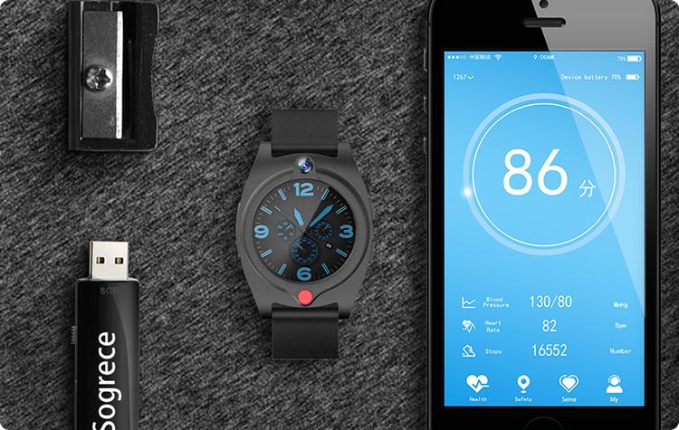 2019 tendencia redondo pantalla botón SOS GPS de seguimiento de Fitness impermeable reloj inteligente