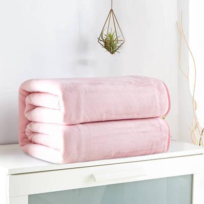 Flanelle Corall Polaire de Luxe En Polyester En Peluche Velours Solide Rose Super Doux Manta Bureau Double Lit Couverture Couverture