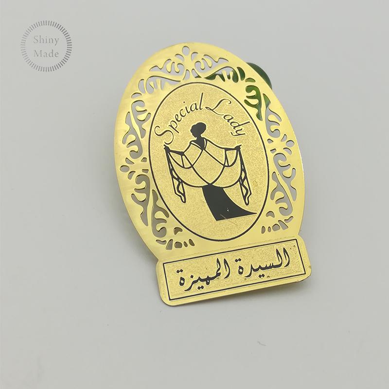 Pelat Logo Logam Kustom untuk Tas Tangan/Dompet/Merek Logo Label Logam