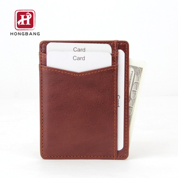 2019 new version men PU leather Minimalist card holder wallet Slim rfid card holder Wallet