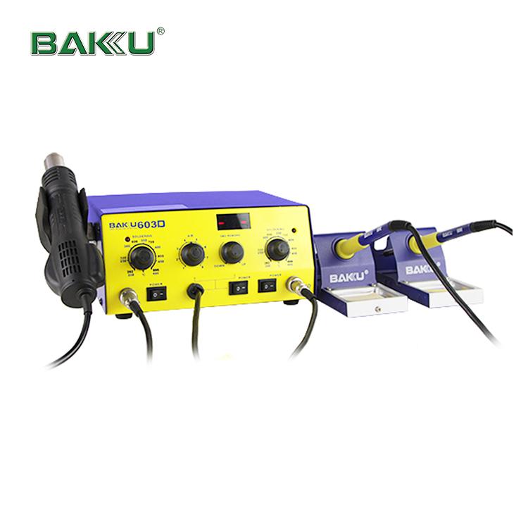 BAKU Low Cost Led Digital Display Reball BK-603D smd Rework Station and two soldering station hot air
