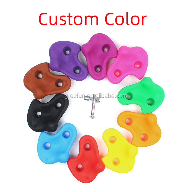 Wholesale Rock Climbing Rock Wall Stone Hand Feet Holds Grip Kits with Mounting Hardware Screws for Children Outdoor Playground