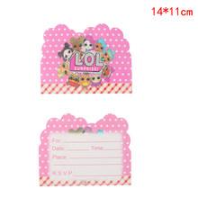 Оригинальный подарок на день рождения, куклы LOL, сюрприз, сделай сам, розовая тема, топпер для торта, тарелка, вилка, мультяшная кукла lols, игру...(Китай)