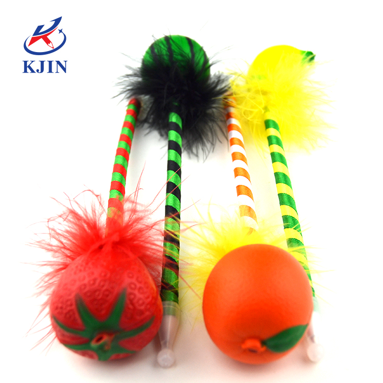 Fruit topper decoration funny and colorful ball pen for kids