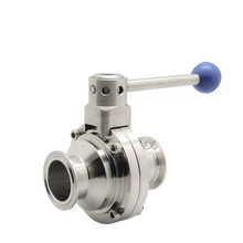 1 Inci Sanitary SS304 Clamp Manual Butterfly Ball Valve