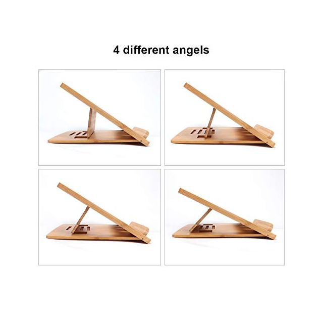 Bamboo Foldable Laptop Stand Holder Adjustable Notebook Tablet Desk Bed For Computer Heat Dissipation