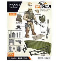 Мини-солдатский набор спецфигурок спецназа полиции со строительными блоками оружие армейская Совместимость все основные бренды игрушки п...(Китай)