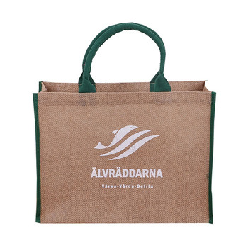 Eco bag Good quality Jute tote bag Natural color shopping bag