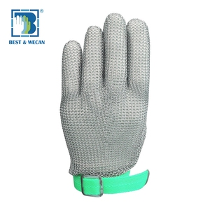Cut Resistant Butcher Stainless Steel Chain Safety Mesh Ring Work Gloves