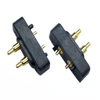 magnetic male / female 2 pogo pin connectors for PCB
