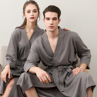 gift your own beautiful gown hotel lovers bathrobe couple waffle bath robe