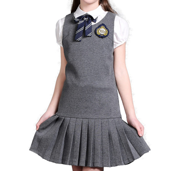 hot school pinafore uniform for primary and middle school girls