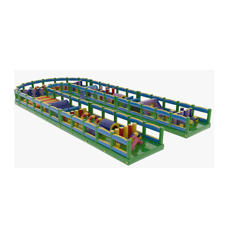 team building sport games Giant  inflatable obstacle course amusement park
