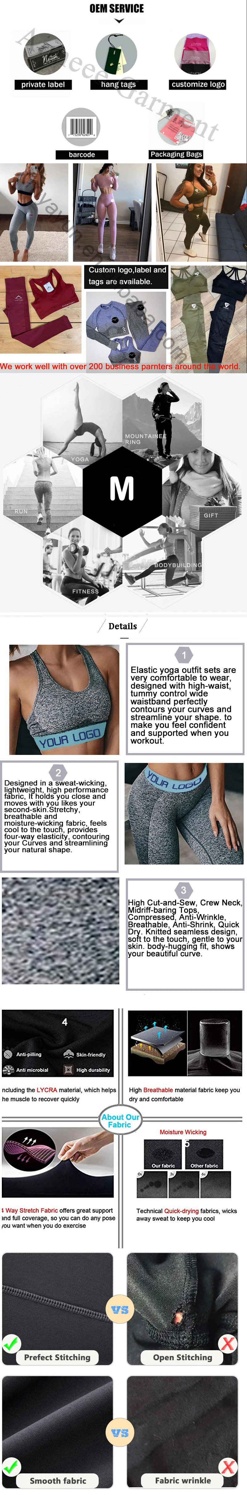 Seamless Leggings And Bra Set Activewear Yoga Sets For Women