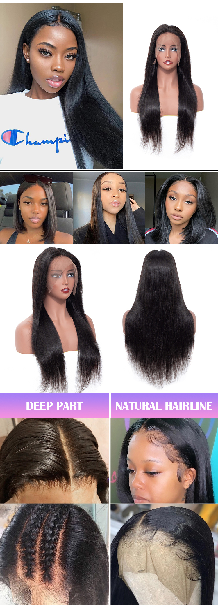 High Quality Raw Cambodian Hair Swiss Lace Wig For Black Women 100% Brazilian Virgin Cuticle Aligned Lace Front Human Hair Wig