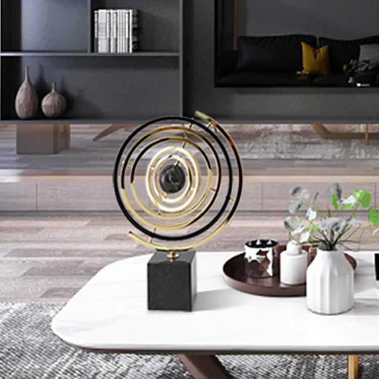 Customize rotatable office home decor world earth globe decor metal sculpture