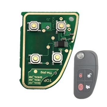 4 Buttons 433 Mhz Flip Remote Car Key Circuit Board Replacement Repair Parts Install For Jaguar X Type
