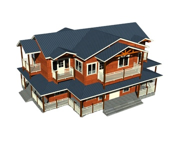 2 storey customizable 6 bedrooms wood made of cottage for family living/wooden house/wooden villa
