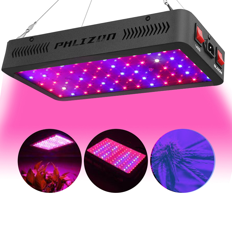 Hot Volledige Spectrum Phlizon 600 W Led Plant Grow Lights dubbele chip 2019 Volledige Spectrum 600 W Led Grow Light voor Groeiende Tomaat