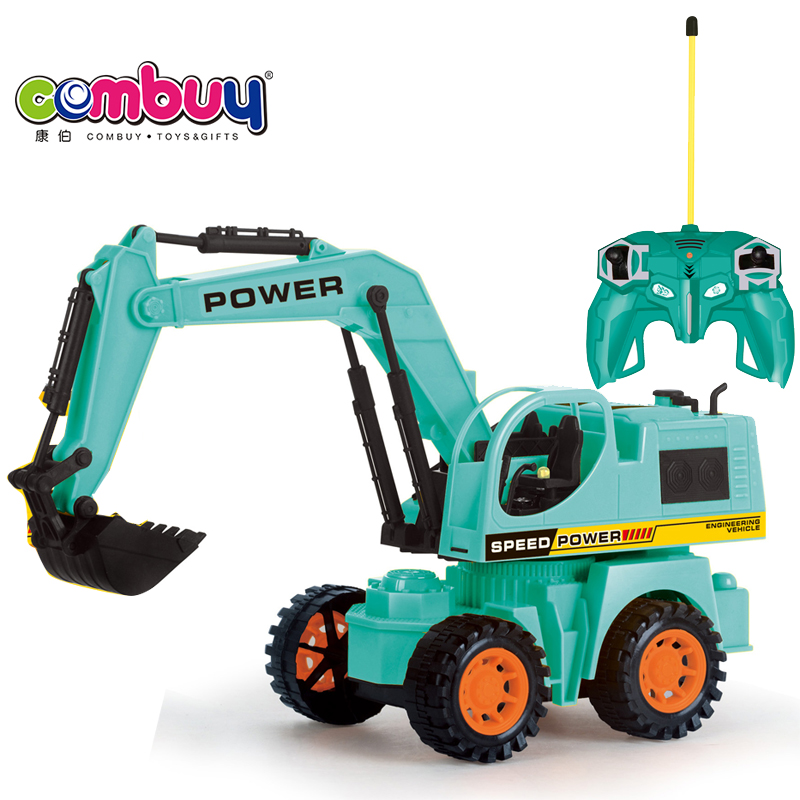 Remote control 5 channel engineering car models rc toy excavator