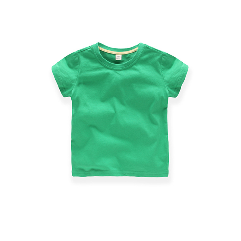 Wholesale soft material 100% cotton 180 gsm custom logo child tshirt