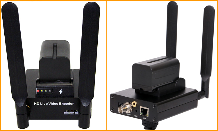 URay HEVC H.265 H.264 HD 3G SDI כדי IP מקודד SDI RTSP RTMP הזרמת מקודד SDI משדר תמיכת סוללה עבור לחיות