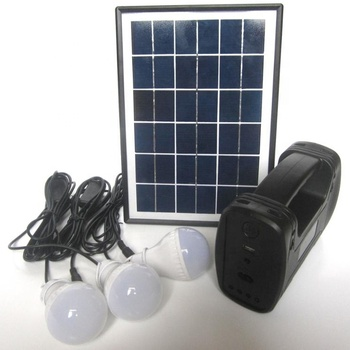 Outdoor Portable Solar Energy Saving Lighting System 3 Lamps for Shed