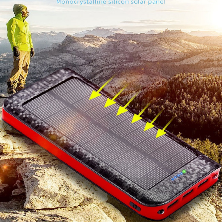 OEM factory wholesales private mould 24000mAh solar charger power bank for  Digital Products