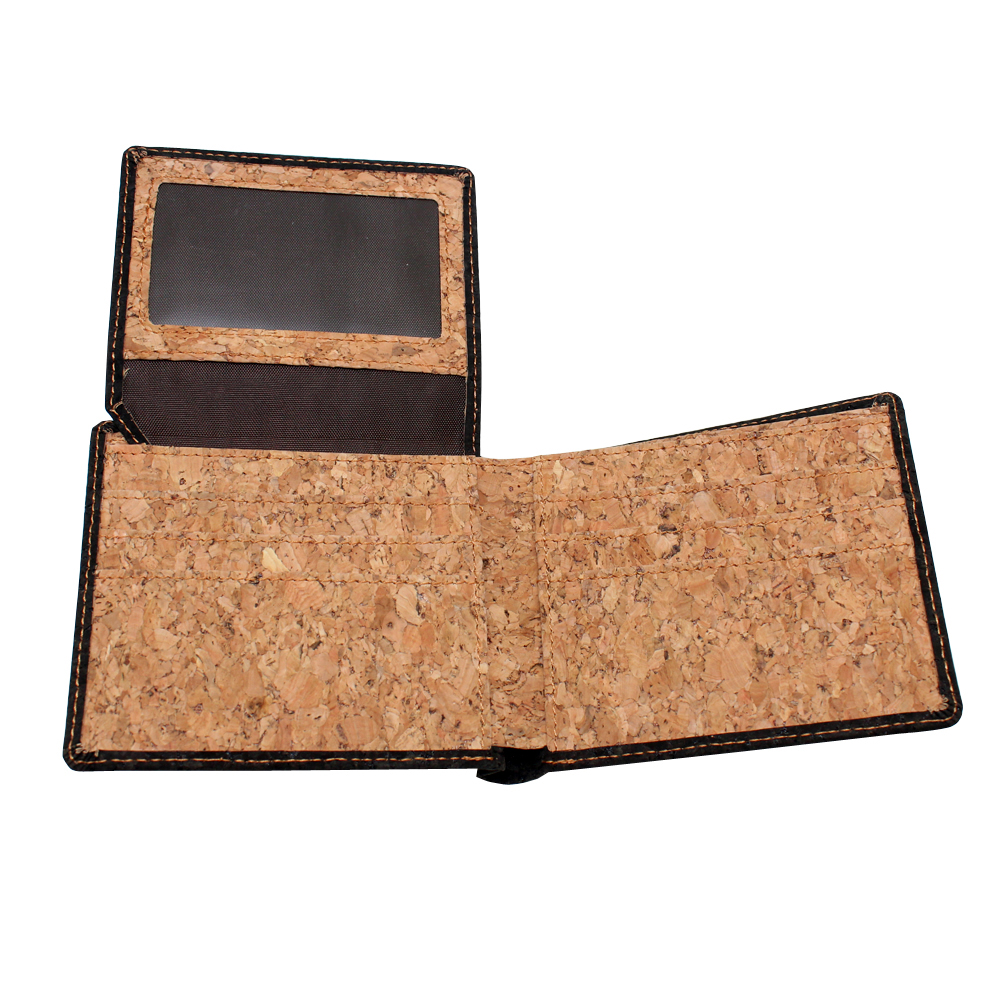 boshiho Slim Bifold Cork Wallet Minimalist Design Credit Card Holder Made