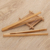 Wholesale Color Scissor bamboo toaster 6.9 inches kitchen accessories home gadget food tong with package