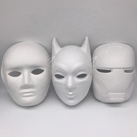 Hot selling eco-friendly diy blank paper pulp masquerade mask