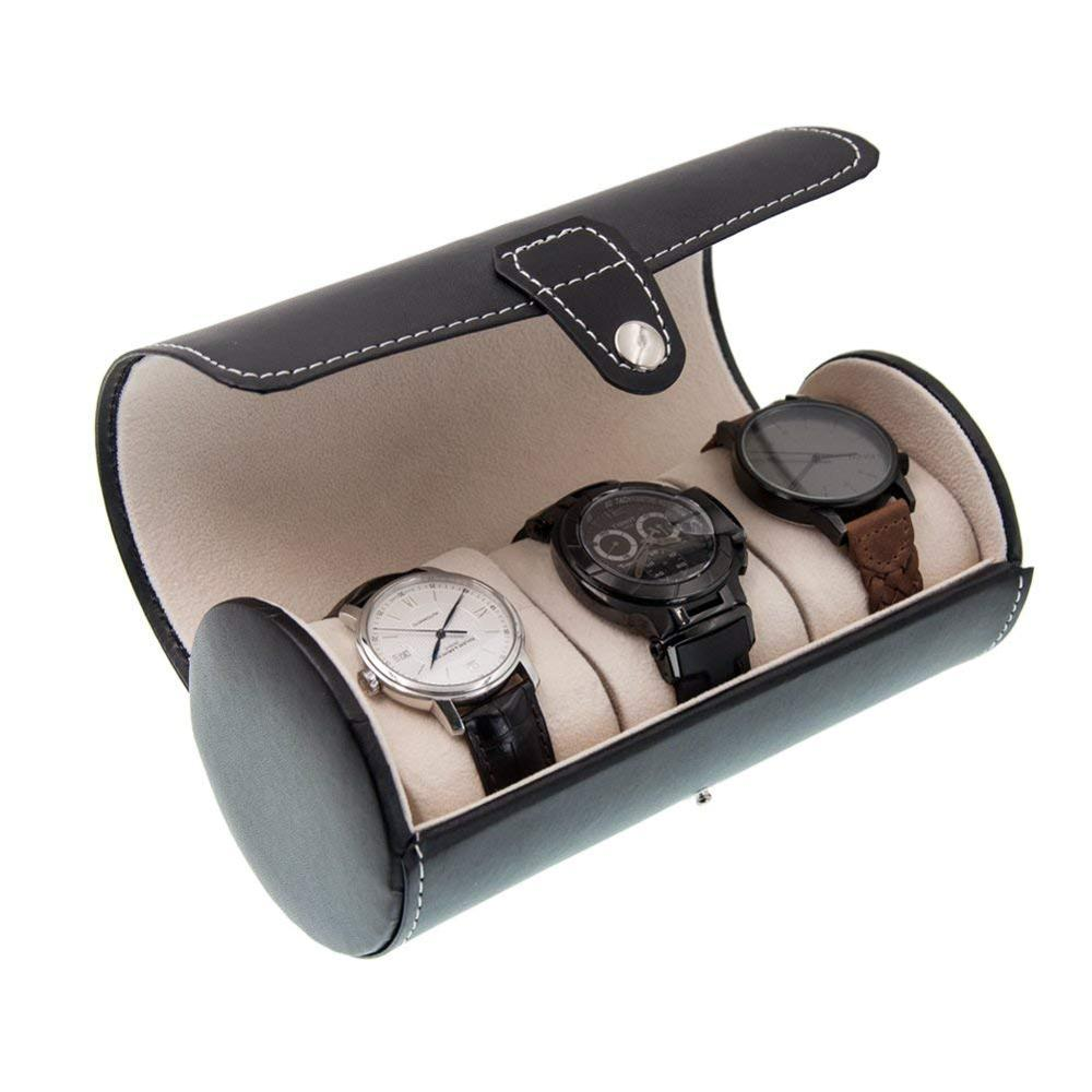 Luxury Wrist Watch Gift Display Case For Men Leathe Wholesale Watch Roll