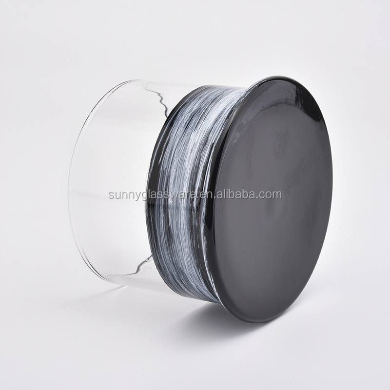 gray hand made glass cloche with holder for home deco