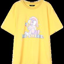 Женская футболка ELFSACK, желтая Повседневная футболка с графическим принтом в стиле Харадзюку, ELF, розовая, для ношения летом, 2020(China)