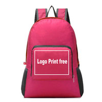 2020 new cheapest folding polyester fabric backpack with high quality
