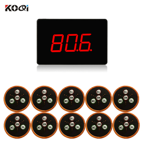 Waiter Paging System Restaurant For Multi-key Buttons Waiter Call System CE (1 display+10 call button)