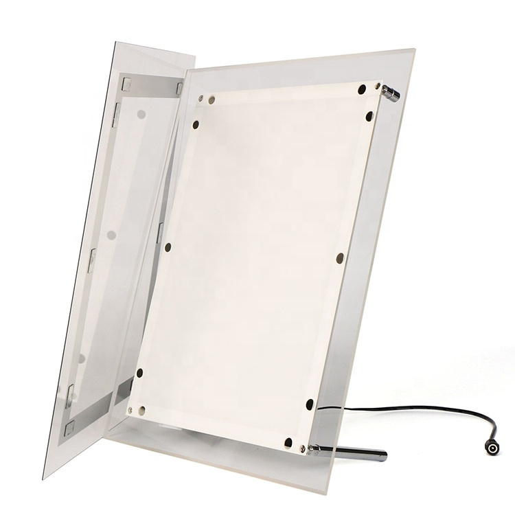 Magnetic open led panel edge lit crystal acrylic picture frame led light box