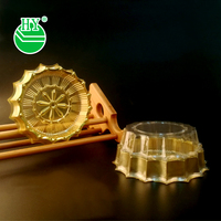 plastic gold Dessert/moon cake Container/box/packaging