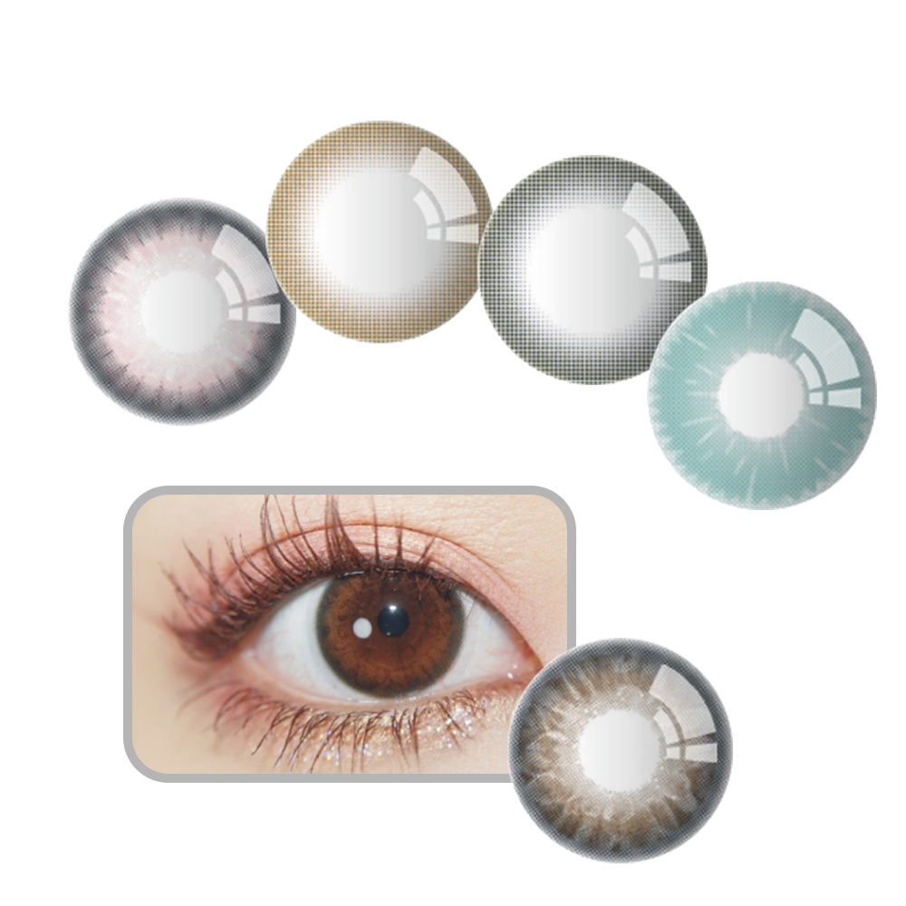 wholesale women korean contact lenses daily disposable contact colored lens