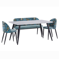 home furniture cheap price dining room table and chairs mdf top dining table sets