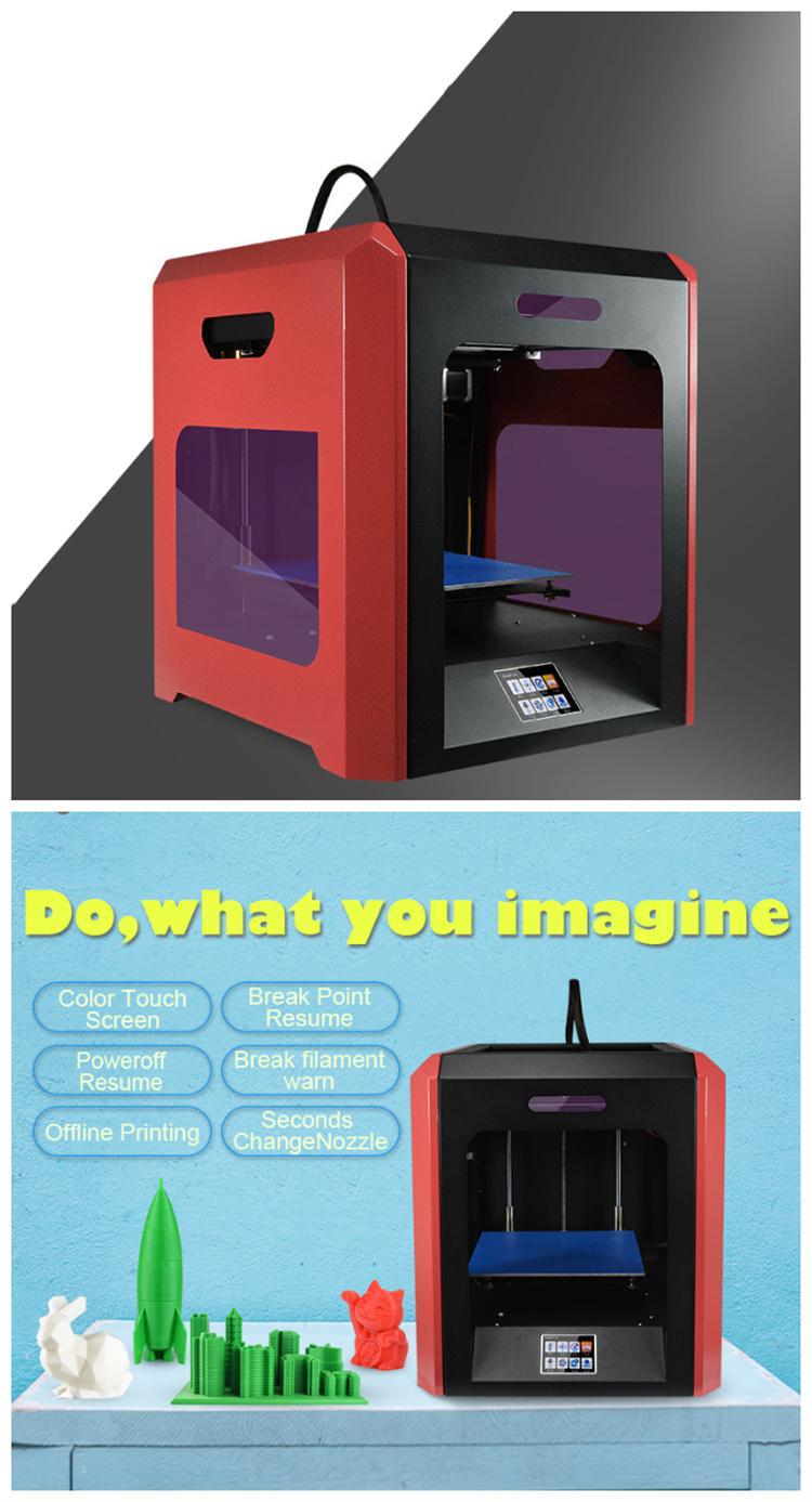 2020 i più nuovi 3D stampante stampante e di alta risoluzione 3D stampa per 3D con alimentazione di riprendere