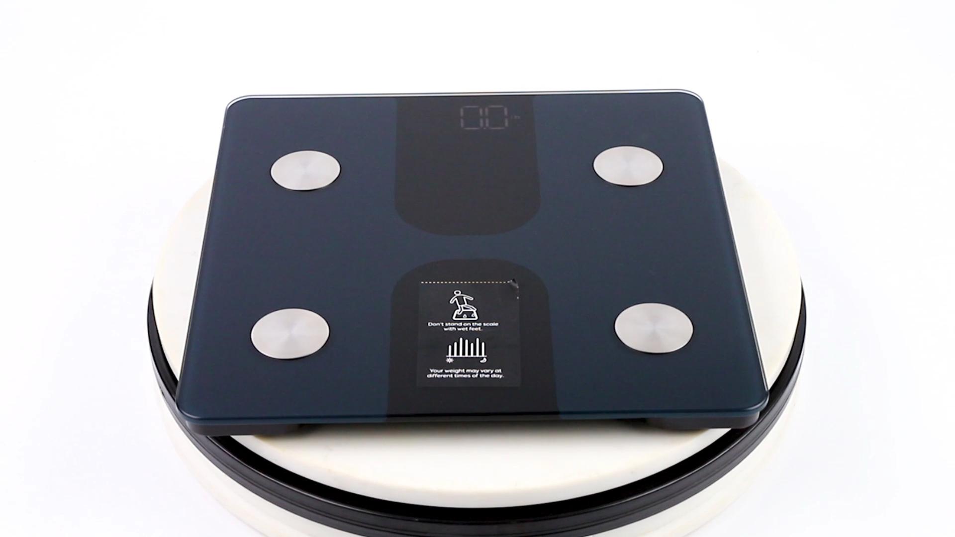 אלקטרוני LED תצוגת 180kg סולם אמבטיה app גוף שומן במשקל מנתח דיגיטלי משקל סולם