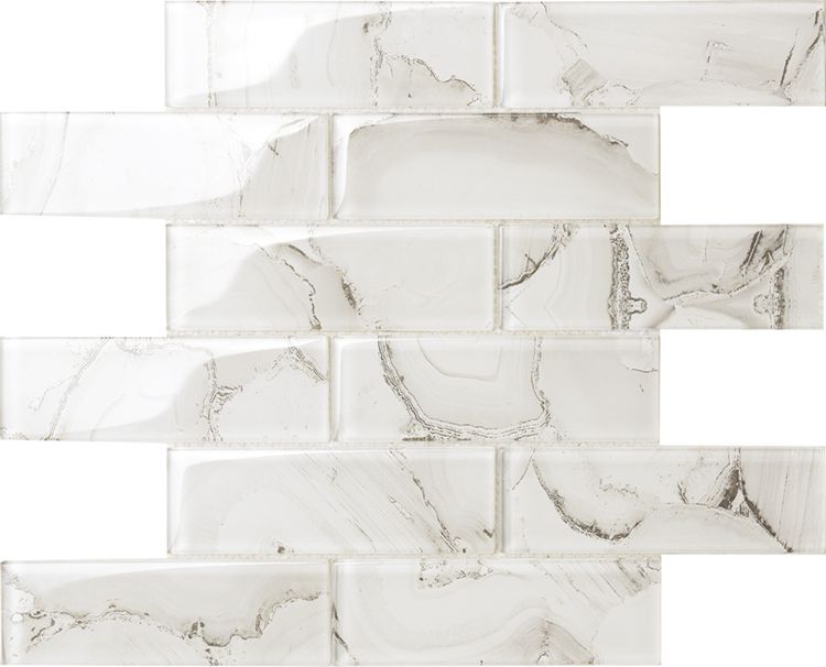 Top Selling Agate Design glass mosaic , laminated glass mosaic for Wall and kitchen Foshan China