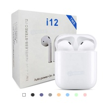 Portable i12 TWS Mini Headset Earbud Macaron <span class=keywords><strong>Benar</strong></span> Nirkabel Bluetooth 5.0 Earphone & Headphone