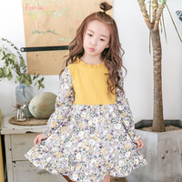 High Quality Kids Cotton Dress Clothes Baby Girl Autumn Winter Floral Dresses